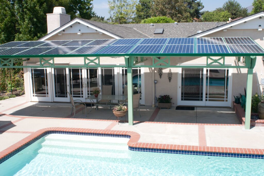 solar on patio roof