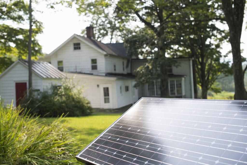 Ground mounted solar panel array